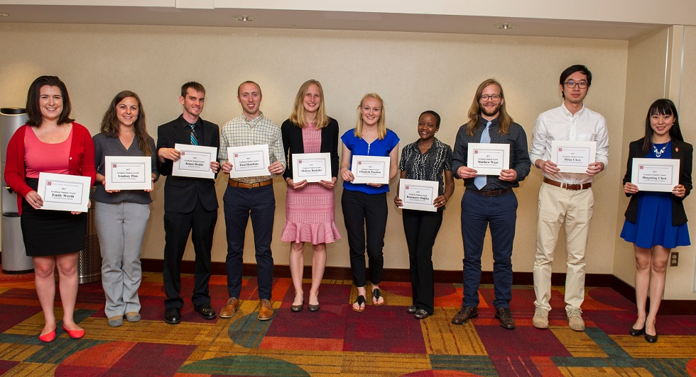 Graduate Student Awards 2017 980px