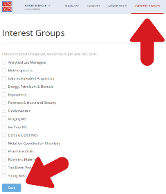 Interest Groups Screenshot