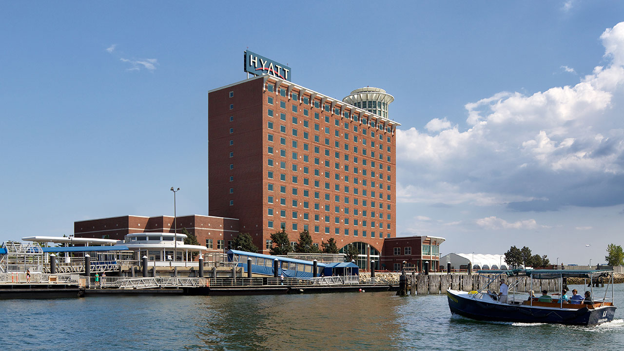 View of the Hotel from the Harbor water